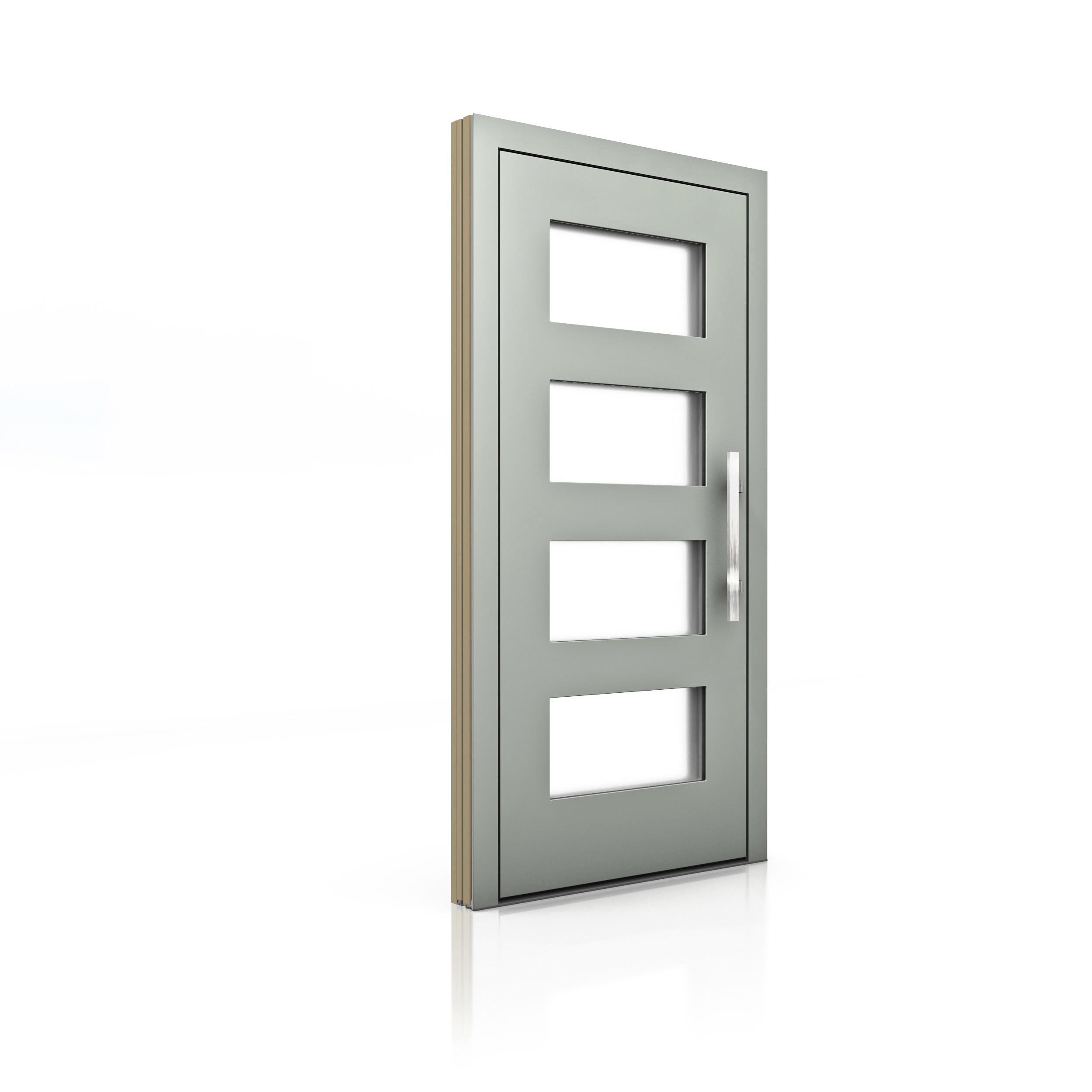Drevo hlinníkové vchodové dvere Internorma